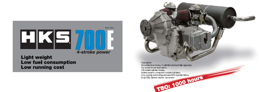 hks 700E Aviation s-LSA 4-stroke Engine