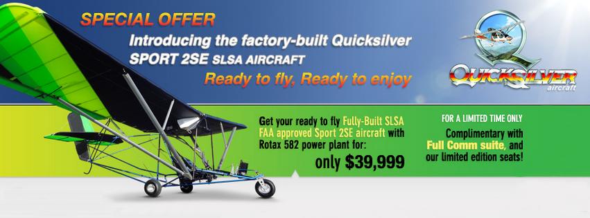 Quicksilver Aircraft Sport 2Se Light Sport Aircraft S-lsa